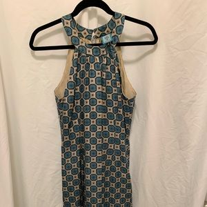 Ginny H silk dress teal, size 6